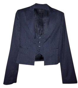 BCBGMAXAZRIA Work Jacket Unique Blue/Grey Stripe Blazer