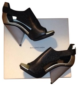 Balenciaga Black and silver Platforms