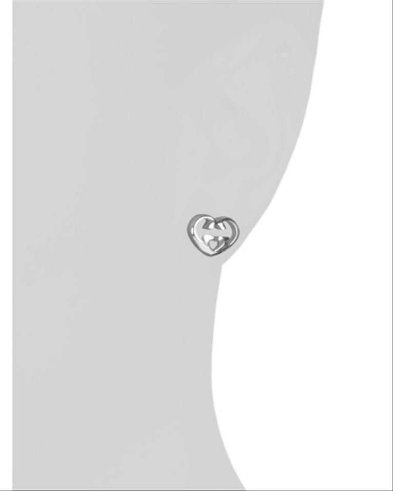 09397c8d6 Gucci Gucci Made In Italy Sterling Silver Love Britt G Stud Earrings Image  2. 123