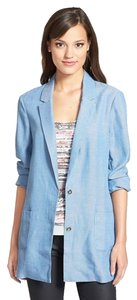 Search for Sanity Boyfriend Jacket Linen BLUE Blazer