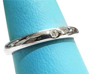 Tiffany & Co. Tiffany & Co, Elsa Peretti Platinum Ring with One Diamond