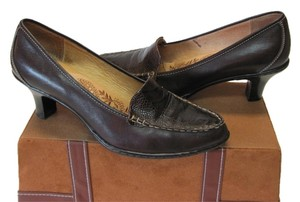 Söfft Leather Very Good Condition Size 8.50m Soft Footbed Brown Pumps