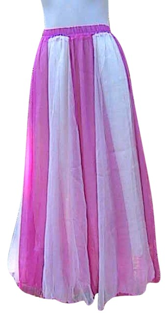 Preload https://img-static.tradesy.com/item/7129690/pink-white-maxi-skirt-size-os-one-size-0-0-650-650.jpg