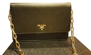 Prada Evening Leather Chain Cross Body Bag