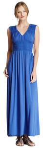 BLUE Maxi Dress by Matty M Rayon Stretch