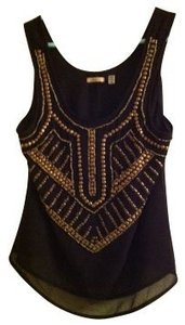 Urban Outfitters Top Beaded gold