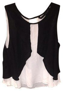 Zara Top Black And Cream