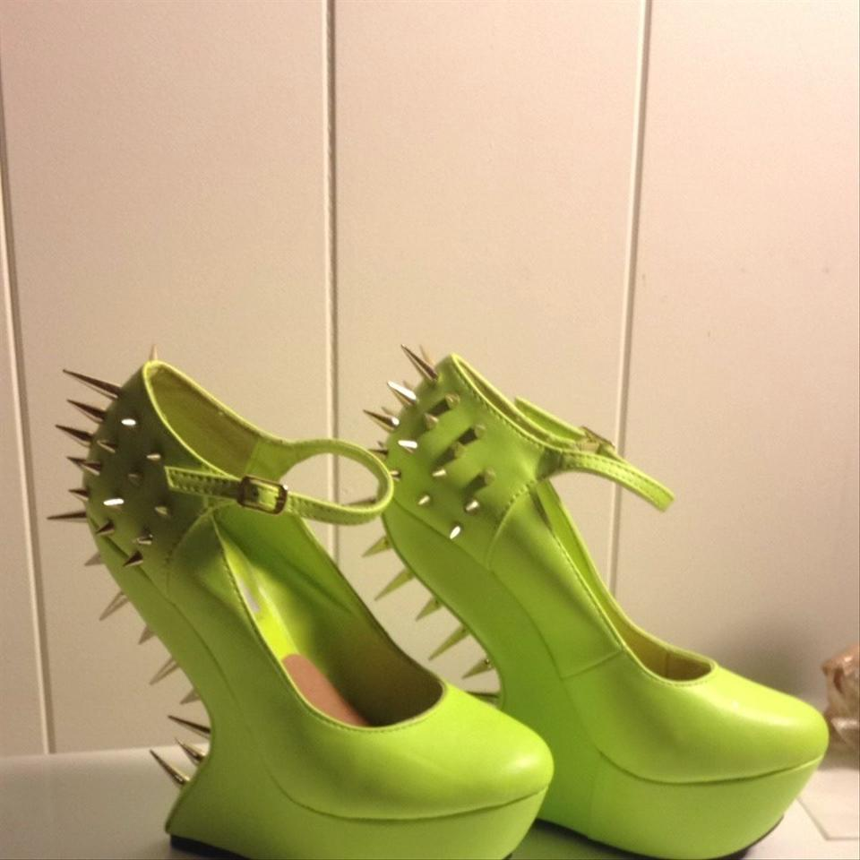steve madden lime green platforms size 5 5 54
