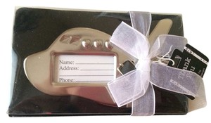 Kate Aspen Silver Airplane Luggage Tags