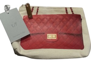 Thursday Friday Thursday Friday Chanel Design Cosmetic Case/Clutch, red, canvas