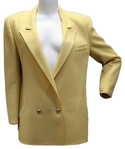 Louis Feraud Wool YELLOW Blazer