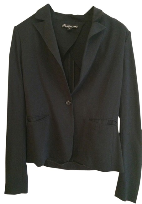 Preload https://item1.tradesy.com/images/elizabeth-and-james-black-tailored-workwear-career-perfect-fit-marykate-ashley-blazer-size-4-s-713095-0-0.jpg?width=400&height=650
