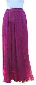 Other Brand New W/o Tag Chiffon Maxi Skirt Maroon