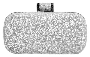 H By Halston Stingray Heritage Grey Hard New Embossed Vapor Clutch