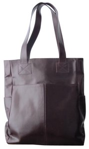 Amaze Aubergine Leather Handmade Handcrafted Work Casual Everyday Career College Tote in Purple