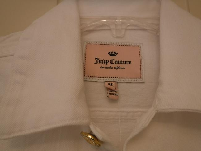Juicy Couture Cotton White Womens Jean Jacket Image 1