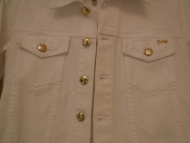 Juicy Couture Cotton White Womens Jean Jacket Image 4