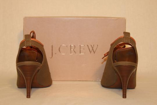 J.Crew Booties Heels Sexy Peep Toe dark hickory Formal