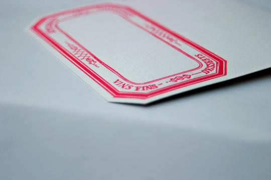 Multicolor Letterpress Business Cards Or Place Cards