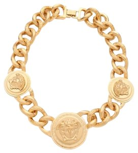 Versace VERSACE Medusa Gold Necklace And Bracelet Two Pieces Foe The Price Of One