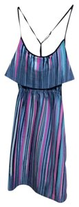 Other short dress Blue / colorful strip Short Cross Back on Tradesy