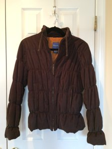 Façonnable Zip Up Front Designer Nordstrom Corduroy Brown Jacket