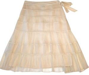 Laundry by Shelli Segal Silk Skirt Eggshell