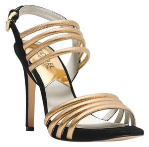 Michael Kors Gold/Black Sandals