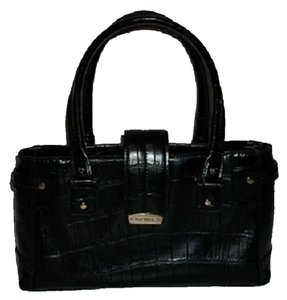 Liz Claiborne Crocodile Design Satchel in Black