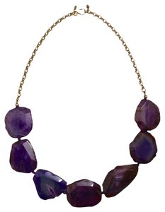 Kenneth Jay Lane Genuine Purple Agate Necklace