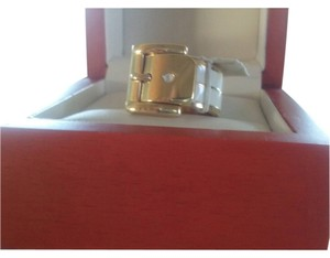 Michael Kors w/BONUSES**..Gold Tone Double Layer Buckle Ring