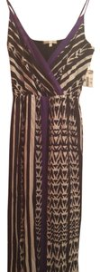 Black/White & purple Maxi Dress by Lavender Brown