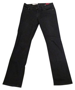 Express Comfortable Stretch Stretchy Classic Straight Leg Jeans-Dark Rinse