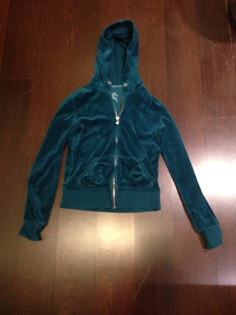Express Teal Velour Soft Spring Green Jacket