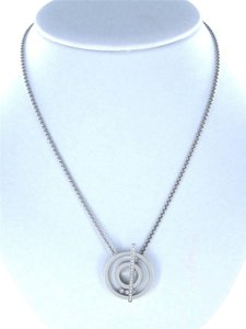 chopard Chopard Happy Diamond Necklace 18 Karat White Gold with Flowting