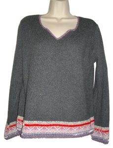 J. Jill Beads Sequins Border Sweater