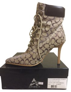 AVIREX Winter Ankle Laces Stiletto Wheat/Brown Boots