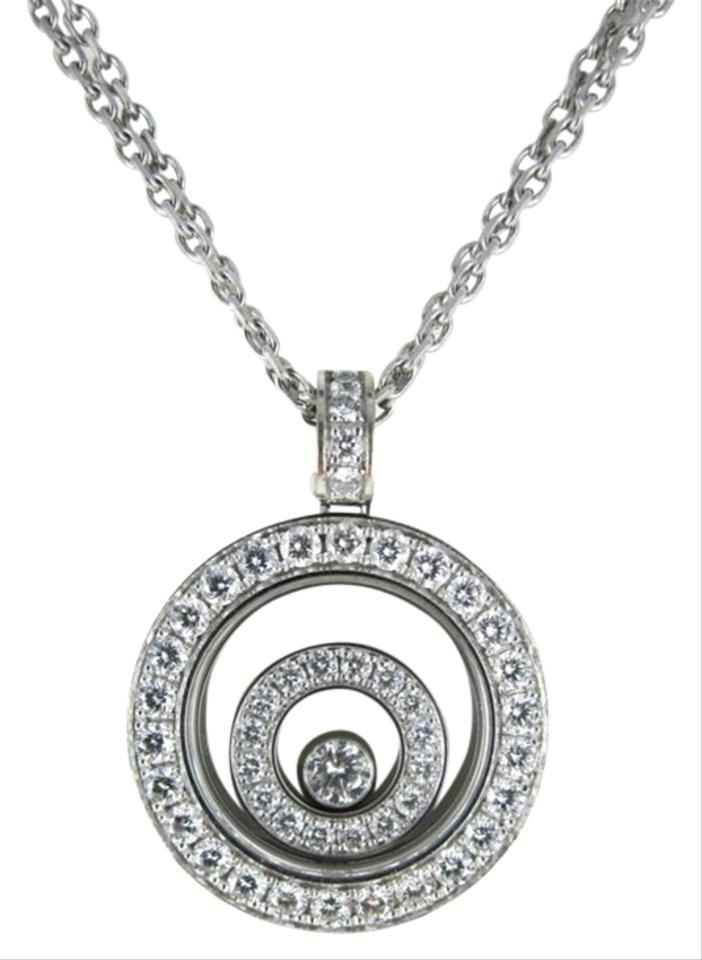 Chopard gold happy spirit 18kt white floating diamond pendant chopard happy spirit chopard 18kt white gold necklace floating diamond pendant for sale mozeypictures