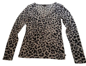 Victoria's Secret Leopard V-neck Longsleeve T Shirt grey/black leopardskin
