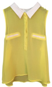 Forever 21 Top Yellow with white trim