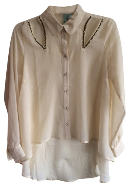 Other Top Cream with gold embellishments