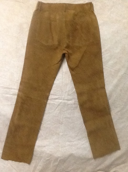 Hugo Buscati Leather Shell Relaxed Pants Rust