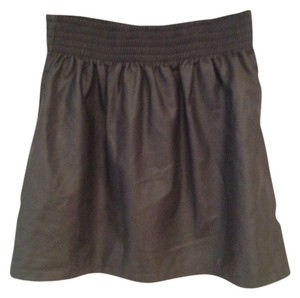 H&M Pleather Mini Mini Skirt grey