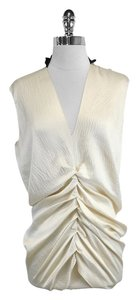 Yigal Azrouël short dress Cream Black Silk Gathered on Tradesy