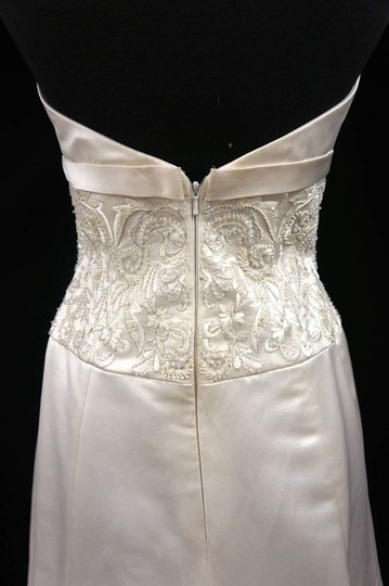 """Anne Barge Ivory Silk Satin/Tulle """"207"""" Dress Size 8 (M)"""