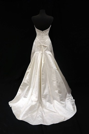 "Anne Barge Ivory Silk Satin ""428"" Dress Size 10 (M)"