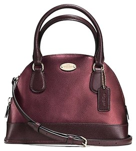 Coach Leather Two Tone Satchel Mini Cross Body Bag