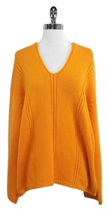 Jil Sander Orange Cashmere Sweater