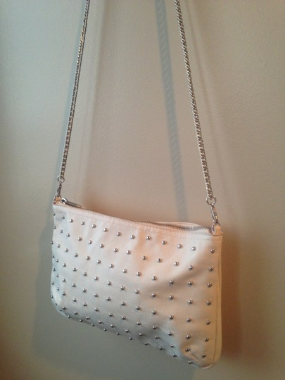 H&M Silver Studded Pleather Cross Body Bag