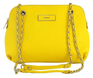 DKNY Yellow Leather Satchel